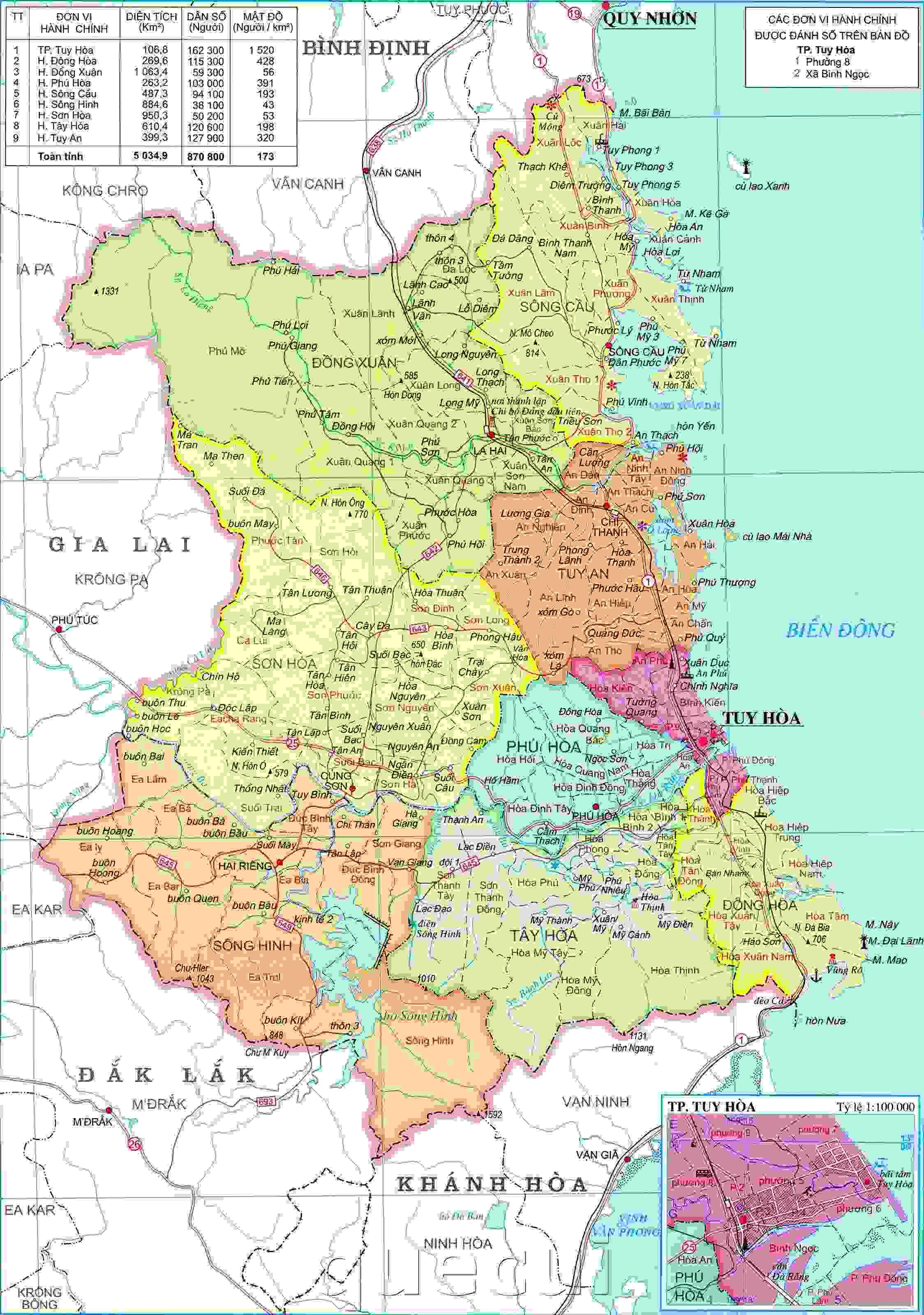 Image result for bản đồ Phú Yên