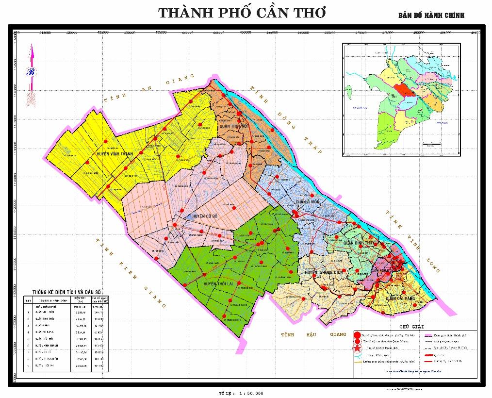 Image result for bản đồ Cần Thơ