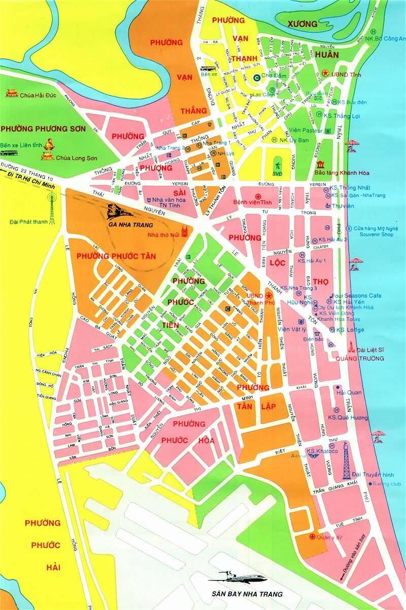 Image result for bản đồ hành chính Nha Trang