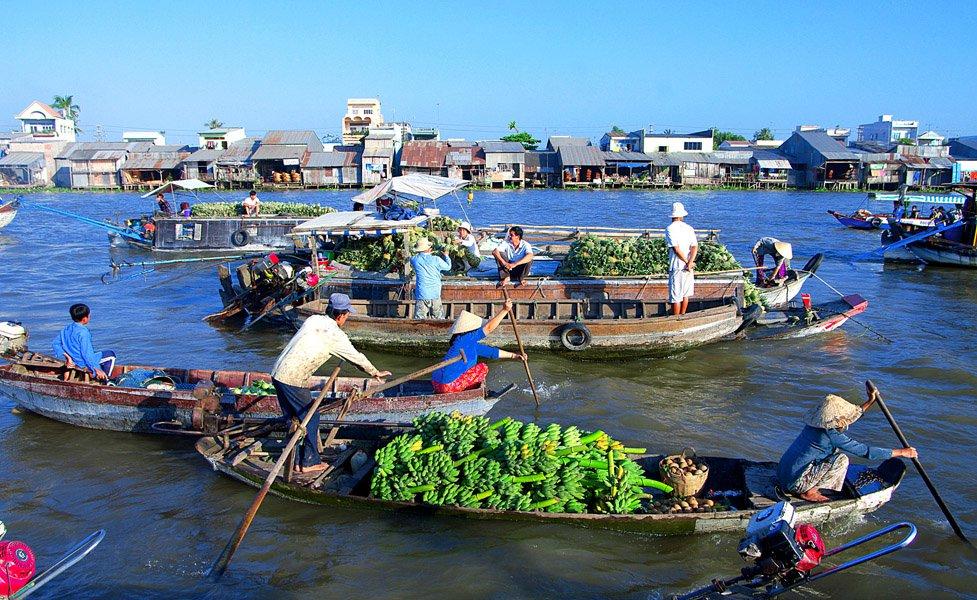 Image result for chợ nổi Cái Răng