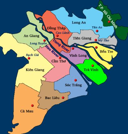 bản đồ miền Tây