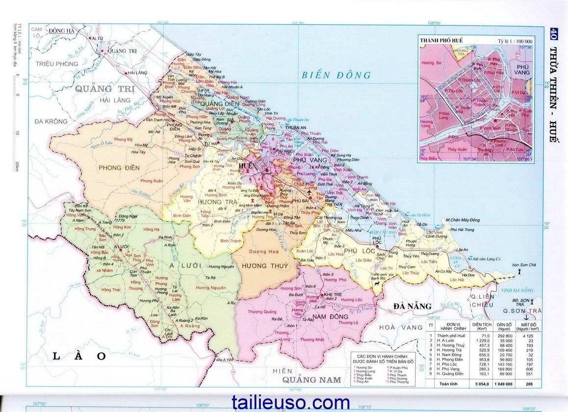 bản đồ Huế