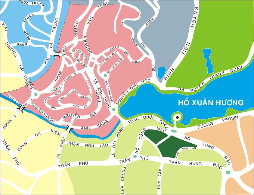 Khám phá bản đồ du lịch Đà Lạt