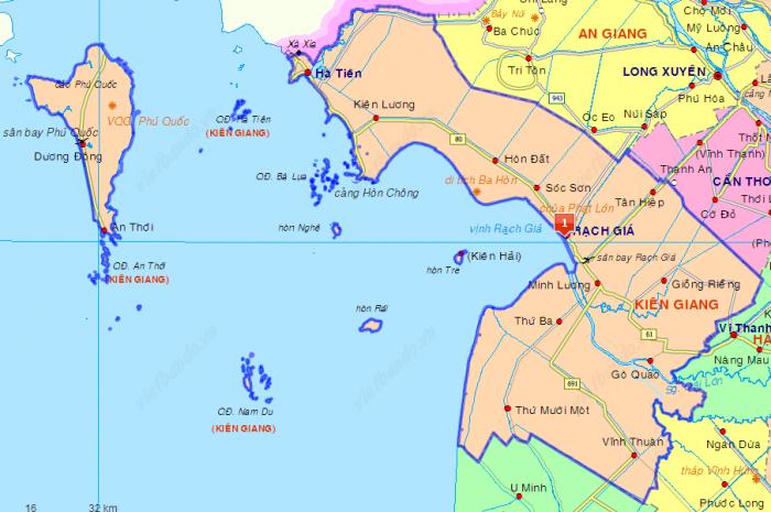Khám phá bản đồ Phú Quốc