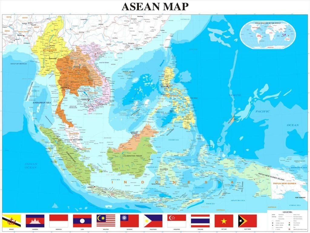Image result for Bản đồ Äông Nam Ã