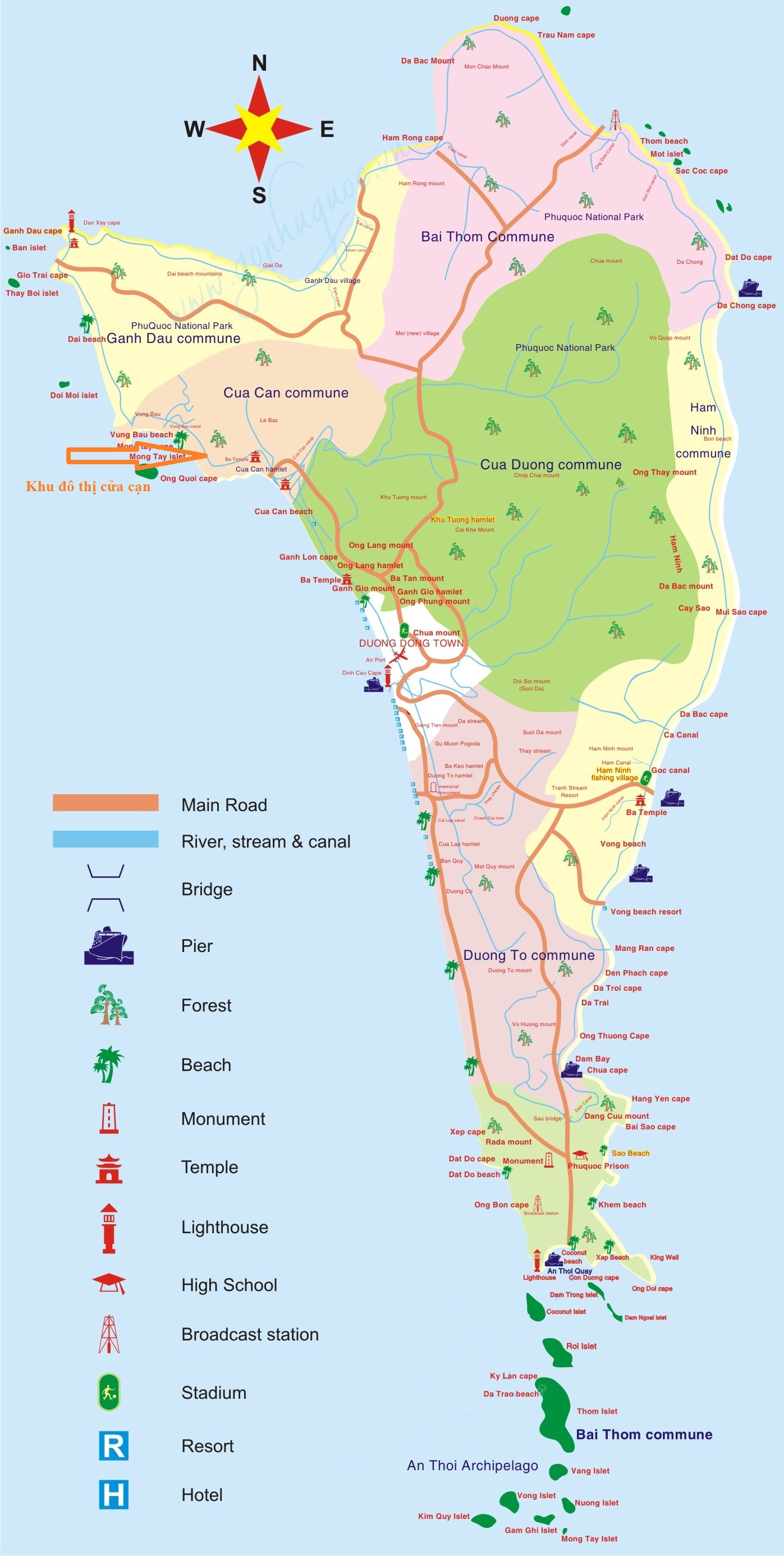 Image result for bản đồ Phú Quốc