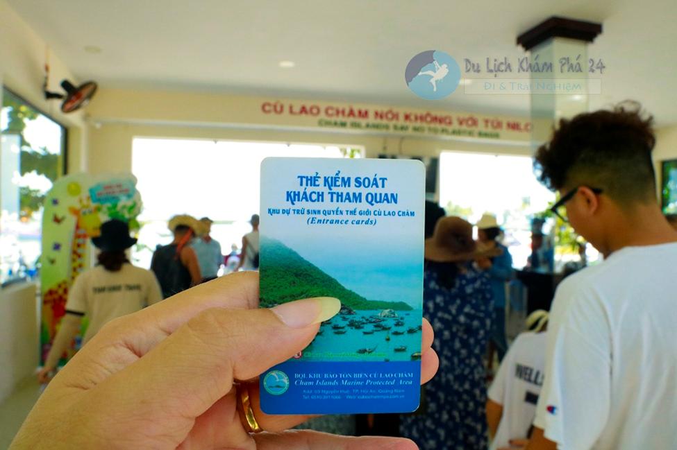 Thẻ kiểm soát khách tham quan ra đảo Cù Lao Chàm
